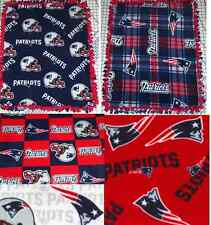 New England Patriots Fleece Baby Blanket Pet Lap Tied Red Blue NFL Football New