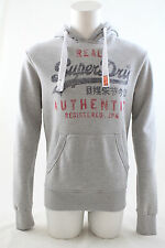 Superdry Mens Vintage Authentic Entry Hoodie Grey Marl Size XL
