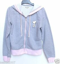 Girls Ladies Grey Missimo Snoopy Hoodie Zipped Jacket Hoody Size 8 Age 14-15