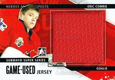 2013-14 ITG Heroes and Prospects Subway Jersey Black #18 Eric Comrie