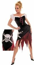 Medieval PIRATE RENAISSANCE WENCH Crossbones Skull Sexy Costume Halloween S M L