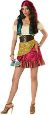 Adult Junior Gypsy Costume Fortune Teller Dress Vest Belt Renaissance Halloween