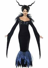 Women Gothic Evil Queen Dress Raven Costume DOES NOT INCLUDE HORNS
