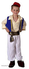BOYS KIDS ALADDIN PERSIA PRINCE MEDIEVAL FANCY DRESS COSTUME OUTFIT 4-6-8-10 NEW