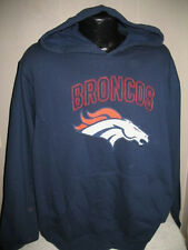 NFL Denver Broncos Football Team Logo Hoody Hooded Sweatshirt Mens Size Majestic