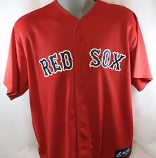 NEW Mens MAJESTIC Blank Back Boston RED SOX Red MLB Stitched Baseball Jersey