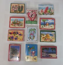 boxed christmas cards beach summer theme santa clause 14 cards and envelopes