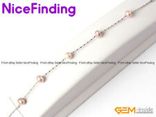 6-7mm Freshwater Pearl White Gold Plated Chain Adjustable Bracelet Jewelry Gifts