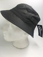 Unisex Charcoal Bucket Style Hat With White Stripe Lining 8190