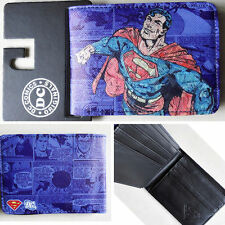 New Hot DC Comics Superman character Logo wallets Purse purple 12cm Leather Cool
