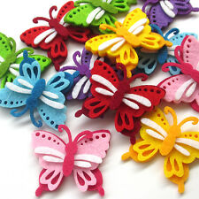 12/30pcs Padded Felt Colorful Butterfly Appliques Wedding Craft Mix Lots Upick