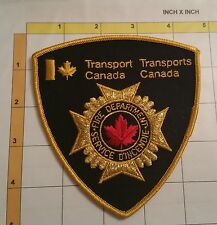 Canada Transport Canada Pompiers Incendie Fire Officer Dept Patch