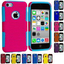 Hybrid Mesh Hard/Soft Silicone Case Skin Cover Accessory for Apple iPhone 5C