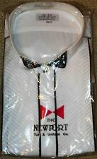 NEWPORT Tuxedo Shirt 4X 4XL White Wing Collar 36/37 Tall NEW