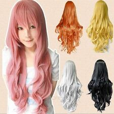 Lady Long Curly Wavy Full Wig Heat Resistant Hair Cosplay Party Lolita Grace Hot