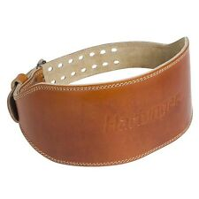 """Harbinger 6"""" Oiled Leather Weight Lifting Belt - Brown"""
