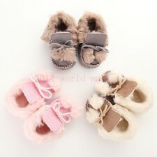 Baby Girl Bowknot Keep Warm Soft Sole Snow Boots Soft Crib Shoes Toddler Boots S