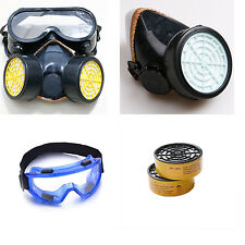 Anti-Dust Safety Chemical Spray Gas Dual Cartridge Respirator Paint Filter Mask