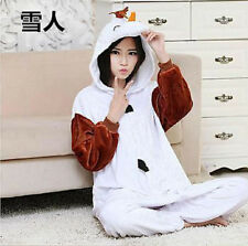 NEW Adult Costume Kigurumi Pajamas Cosplay Onesie Pyjamas @ Disney Frozen Olaf~