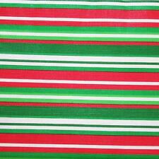 CHRISTMAS STRIPE VINYL TABLECLOTH~Vinyl~Flannel Back~ALL SIZES~Red/Green~NEW