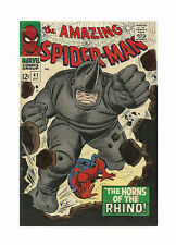 The Amazing Spider-Man #41 (Oct 1966, Marvel) Horns of Rhino Stored in Plastic