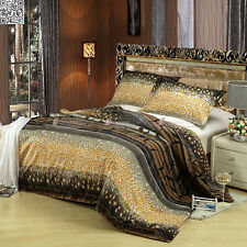 Polka Leopard Quilt Doona Duvet Cover Set Double Queen King Size Pillowcas A1082
