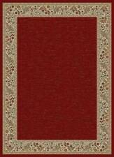 "RED BORDER IVORY PERSIAN 5x8 AREA RUG ORIENTAL CARPET - ACTUAL 5' 3"" x 7' 3"""