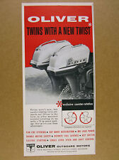 1959 Oliver TWIN 35 hp Outboard Motors vintage print Ad