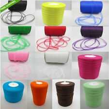 "1Roll-50 Yards 3/8"" 9mm Satin Edge Sheer Organza Ribbon Bow Craft DIY C33H"