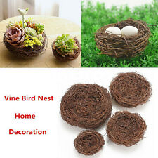 Handmade Vine Brown Bird Nest House Home Nature Craft Holiday Decoration HU