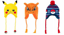 Adult size Pokemon Knit Laplander Pikachu Charizard Pokeball Hat Beanie fnt