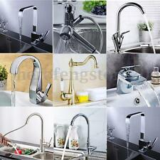 9 Kinds Modern Chrome Brass Faucet Mixer Tap Swivel Spout Single Handle Kitchen