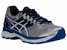 NEW MENS ASICS GT-2000 V4 GEL RUNNING SHOES TRAINERS SILVER / WHITE 4E XWIDE