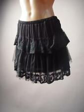 Black Gothic Lolita Tiered Embroidered Lace Tulle Petticoat Style 204 mv Skirt L