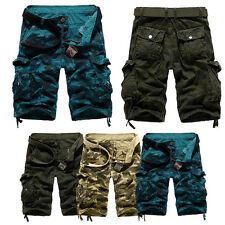 Men's Military Army Cargo Sport Pants Tactical Camo Camouflage Overall Shorts