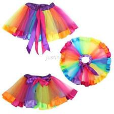 Cute Kids Baby Girls Rainbow Ballet Dance Wear Dress High Waist Tutu Pettiskirt