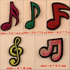 10pcs/set Musical Notation Embroidered Applique Sew on Patches DIY