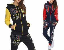 Ladies St. Tropez Jogging Suit Running Jacket Trousers Trackies