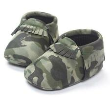 Girls Crib Tassels Camouflage Shoes  Casual Shoes Baby Boys Soft Sole Sneakers