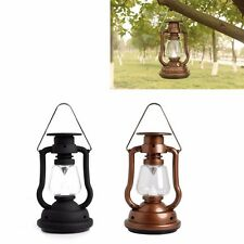 Portable LED Solar Charger Camping Lantern Lamp Rechargeable Hand Crank Light