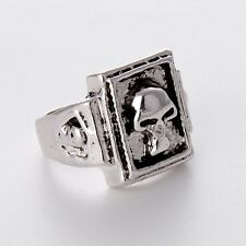 NEW Fashion Jewelry Hot Gift Stainless Steel Skull Mens/Womens Silver Rings HOT