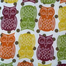 FALL OWL VINYL TABLECLOTH~Flannel Back~ALL SIZES~Thanksgiving Primitive~NEW