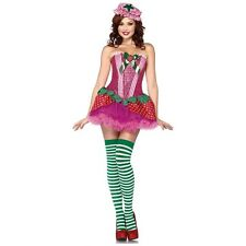 Strawberry Costume Adult Sexy Shortcake Girl Halloween Fancy Dress