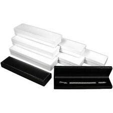 Black Leather Watch Bracelet Jewelry Gift Box Showcase Display Kit