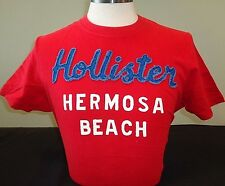 NEW MENS HOLLISTER S/S GRAPHIC T-SHIRT, RED, SIZE X-LARGE, ABERCROMBIE & FITCH