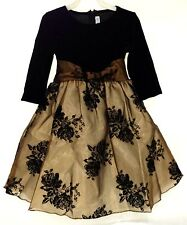 NWT LITO BLACK AND BROWN HOLIDAY DRESS TODDLER 2T - 12
