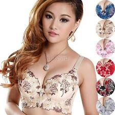 Chic Lady Women Push Up Deep V Underwire Padded Lace Bra Brassiere 34-38 Cup B/C