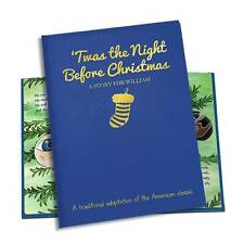 Personalised 'Twas The Night Before Christmas' Embossed Classic Hardback