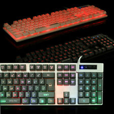 Backlight Gaming Keyboard 103 keys Wired USB Metal Base Keyboard For Gamer LOT