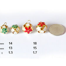 10X Pet Jingle Bell Copper Metal Fit Festival Jewelry Pendants Christmas Bells U